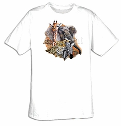 Animal T-shirt - Wildlife African Animals Collage Adult Tee