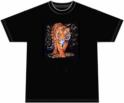 Tiger T-shirt - Safari Wildlife Adult Tee Shirt