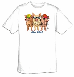 Pig T-shirt - Hog Wild Funny Pig Farm Animal Tee Shirt