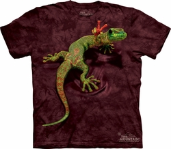 Gecko Shirt Funny Lizard Peace Out T-shirt Tie Dye Adult Tee