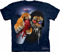 Tiger Shirt Tie Dye DJ Graffiti Saber T-shirt Adult Tee