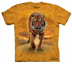 Tiger Kids Shirt Tie Dye Sun Tiger T-shirt Tee Youth