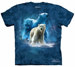 Polar Bear Kids Shirt Tie Dye Arctic Collage T-shirt Tee Youth