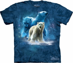Polar Bear Shirt Tie Dye Arctic Collage T-shirt Adult Tee