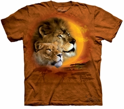 Lion Kids Shirt Tie Dye Africa Sun T-shirt Tee Youth