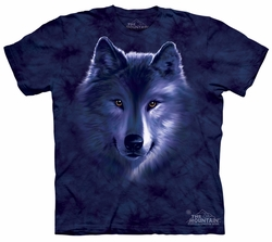Wolf Kids Shirt Tie Dye Wolves Portrait Fade T-shirt Tee Youth