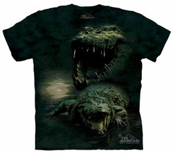 Alligator Kids Shirt Tie Dye Crocodile Dark Gator T-shirt Tee Youth