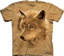 Wolf Shirt Tie Dye Wolves Golden Eyes Adult T-shirt Tee