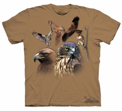 Birds Kids Shirt Tie Dye Birds of Prey T-shirt Tee Youth