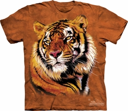 Tiger Shirt Tie Dye Cat Power & Grace T-shirt Adult Tee