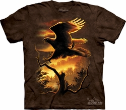 Eagle Shirt Tie Dye Bird Golden Sunset T-shirt Adult Tee