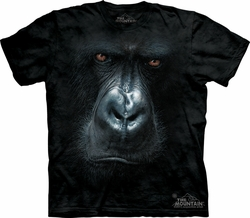 Gorilla Shirt Tie Dye Ape Monkey In the Mist T-shirt Adult Tee