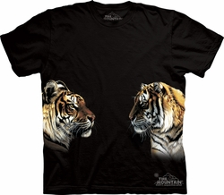 Tiger Shirt Tie Dye Face Off T-shirt Adult Tee