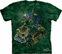 Leopard Shirt Tie Dye Panthera Rainforest Gathering T-shirt Adult Tee