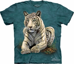 Tiger Shirt Tie Dye Big Cat Gaze T-shirt Adult Tee