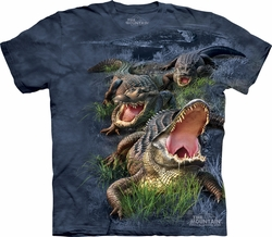 Alligators Shirt Tie Dye Gator Bog T-shirt Adult Tee