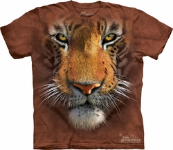 Tiger Shirt Tie Dye Face T-shirt Adult Tee