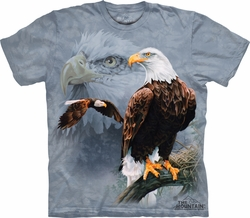 Eagle Shirt Tie Dye Collage T-shirt Adult Tee