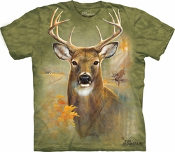 Buck Shirt Tie Dye Deer Farm T-shirt Adult Tee