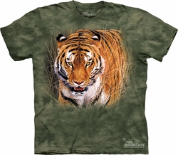 Tiger Shirt Tie Dye T-shirt Close Encounter Adult Tee
