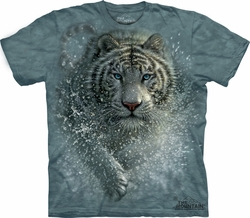 White Tiger Shirt Tie Dye T-shirt Wet & Wild Adult Tee
