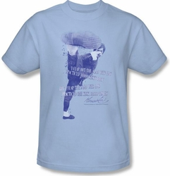 Bruce Lee Kids T-shirt Youth 10,000 Kicks Saying Light Blue