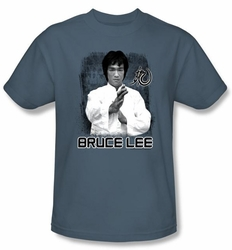 Bruce Lee Kids T-shirt Youth Concentrate Slate Blue