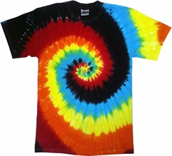 Tie Dye Kids T-shirt Eclipse Swirl Vintage Groovy Youth Tee Shirt