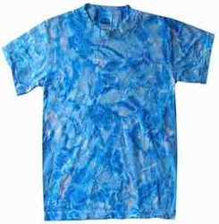 Tie Dye Kids T-shirt Crystal Blue Retro Vintage Groovy Youth Tee Shirt