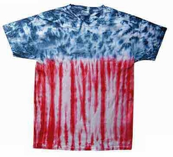 Tie Dye Kids T-shirt Flag Retro Groovy USA Patriotic Youth Tee Shirt