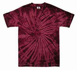 Tie Dye Kids Shirt Spider Crimson Youth Tee Shirt
