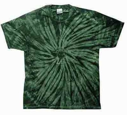 Tie Dye Spider Green Retro Vintage Groovy Youth Kids T-shirt Tee Shirt