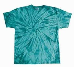 Tie Dye Kids Shirt Spider Turquoise Youth Tee Shirt