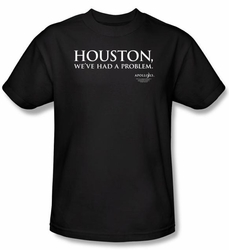 Apollo 13 T-shirt Movie Houston Adult Black Tee Shirt