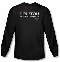 Apollo 13 Long Sleeve T-shirt Movie Houston Black Tee Shirt