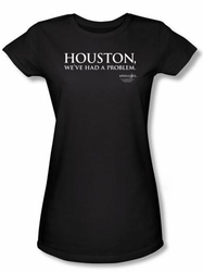 Apollo 13 Juniors T-shirt Movie Houston Black Tee Shirt