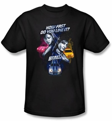 2 Fast 2 Furious Shirt Movie Fast Women Black Tee T-Shirt