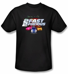 2 Fast 2 Furious Shirt Movie Logo Black Tee T-Shirt