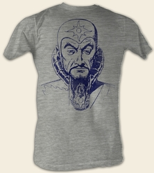 Flash Gordon T-Shirt - Ming Mug Adult Gray Heather Tee Shirt
