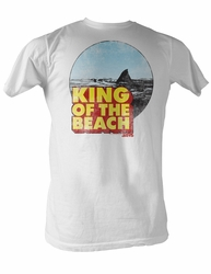 Jaws T-shirt King Of The Beach Adult White Tee Shirt