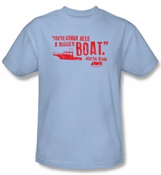 Jaws T-shirt Movie Bigger Boat Adult Light Blue Tee Shirt