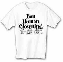 Funny Clowning T-shirt - White