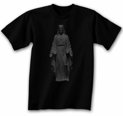Jesus Religious Novelty Adult Black T-shirt Tee Shirt