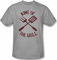 Funny Barbeque BBQ T-shirt - King of the Grill