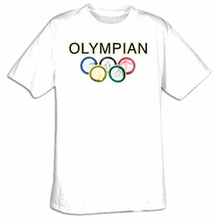 Olympics Condoms Adult T-shirt Tee Shirt