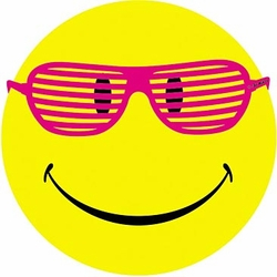 Smiley Face with Sunglasses Funny Smile Adult T-shirt Tee Shirt