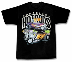 Bodacious Ford Hot Rod Classic Cars Adult T-shirt