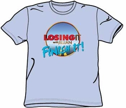 The Biggest Loser TV Show FINISH IT Adult Light Blue T-shirt