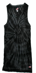 Tie Dye Kids Tank Top Spider Black Youth Soffe Tanktop