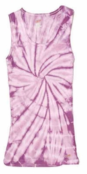 Tie Dye Kids Tank Top Spider Lavender Youth Soffe Tanktop